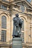 Статуя Мартина Luther, Дрезден Стоковые Фотографии RF