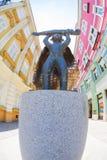 Статуя мальчика телефона Стоковые Фото