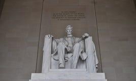 Статуя мемориала Линкольна Стоковые Фото