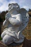 Статуя меньшего ангела, около Дуная стоковое фото rf