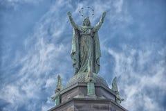 Статуя меди церков Монреаля Стоковая Фотография