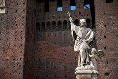 статуя милана Италии стоковая фотография