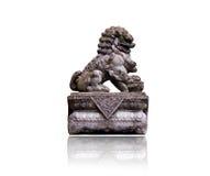 Статуя мнимого льва животных изолированного на белой предпосылке Стоковое Изображение RF