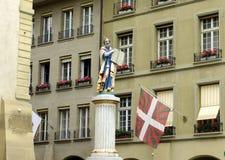 Статуя Моисей в Bern, Швейцарии Стоковое фото RF