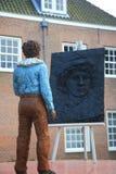 Статуя молодого Рембрандт Стоковые Фотографии RF