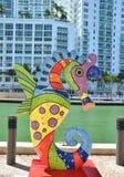 Статуя морского конька в Майами городском Стоковое Фото