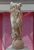 Статуя Найк топча на глобусе Стоковые Изображения RF