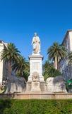 Статуя Наполеон Бонапарт в Аяччо Стоковые Изображения
