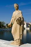 Статуя на дворце боли челки Стоковые Изображения