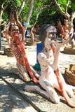 Статуя на парке ужаса ада Таиланда Стоковые Изображения