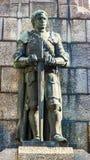 Статуя на сражении памятника Grunwald в Кракове Стоковое Изображение RF