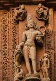 Статуя на старом индийском виске Стоковая Фотография