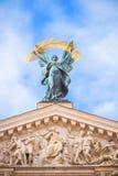 Статуя на театре оперы в Львове Стоковое Изображение RF