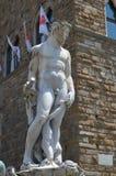 Статуя на фонтане Нептуна на della Signoria аркады в Флоренсе Стоковые Изображения RF