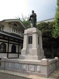 Статуя на японском буддийском виске Стоковые Изображения RF