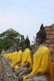 статуя неба рядка Будды Стоковое Фото
