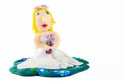 Статуя невесты на белизне Стоковая Фотография RF