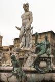 Статуя Нептуна в Флоренсе, крупном плане Стоковые Фотографии RF