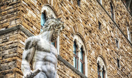 Статуя Нептуна в della Signoria аркады Стоковое Фото