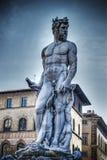 Статуя Нептуна в hdr в Флоренсе Стоковая Фотография