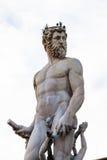 Статуя Нептуна фонтана конца Нептуна вверх Стоковое Фото