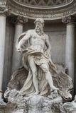 Статуя Нептуна, фонтан Trevi, Рим Стоковые Фотографии RF
