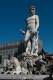 Статуя Нептуна - Флоренс Италия Стоковые Изображения