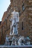 Статуя Нептуна Флоренции Италии Стоковое Изображение RF