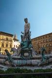 Статуя Нептуна Флоренции Италии Стоковая Фотография