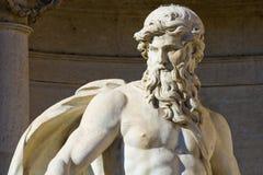 статуя Нептуна rome Стоковые Изображения RF