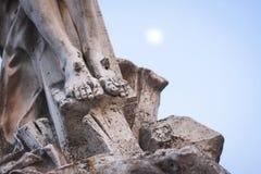 Статуя ног Стоковые Изображения