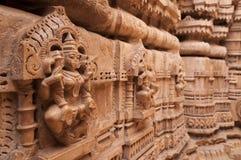 Статуя оно jain висок, Jaisalmer, Индия Стоковое Изображение