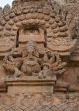 Статуя лорда Ganesha на Gopuram виска Brihadeswarar Стоковое Изображение RF