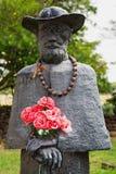 Статуя отца Damien Стоковые Фото