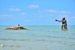 Статуя от литературы рассказ Таиланда Стоковое Фото