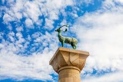 Статуя оленей Родоса Стоковое фото RF