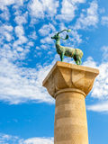 Статуя оленей Родоса Стоковые Фото