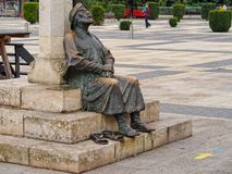 Статуя паломника - Леон стоковые изображения rf