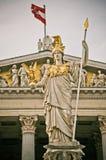 Статуя парламента Вены Стоковая Фотография RF