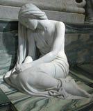 Статуя печали на соборе Роскилле стоковые фотографии rf