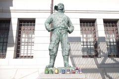 Статуя пилота камикадзе на святыне Ясакани Стоковое Изображение