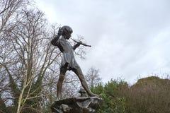 Статуя Питер Пэн Стоковое Изображение RF