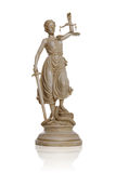 статуя повелительницы правосудия Стоковые Фотографии RF
