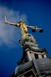 статуя повелительницы правосудия Стоковое фото RF