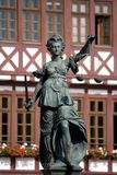 статуя повелительницы правосудия Стоковая Фотография