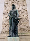 Статуя повелительницы Правосудия стоковые изображения