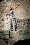 Статуя подростка Стоковые Изображения