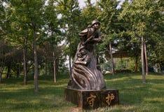 Статуя пожарного стоковое изображение rf
