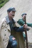 Статуя пожилого солдата в ¼ Œshenzhen Parkï Красной Армии, фарфоре Стоковая Фотография