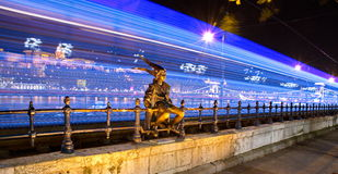 Статуя принцессы Litlle в Будапеште Стоковая Фотография
